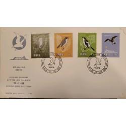 A) 1981, MALTA, BIRDS, FDC, PROTECTION OF WILD LIFE, OWL, CURRUCA CABECINEGRA, CURRUCA CABECINEGRA