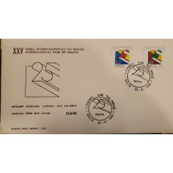 A) 1981, MALTA, NATIONAL FAIR OF MALTA, FDC