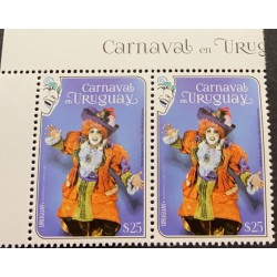 A) 2020, URUGUAY, CARNIVAL, ROSARIO VIÑOLY COSTUME AND MAKE-UP, MNH, CEIBO, SALTIMBANQUIS, MULTICOLORED
