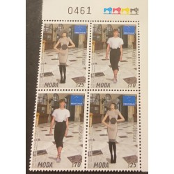 A) 2020, URUGUAY, MERCOSUR, FASHION DRESSING TEXTIL INDUSTRY, MNH, PAIR BLOCK OF 4