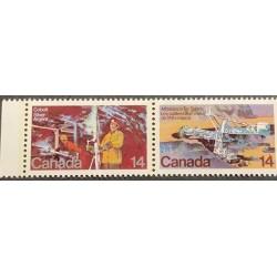 J) 1978 CANADA, SILVER MINE, COBALT LAKE, STRIPMINING ATHABASCA THAR SANDS, PAIR, MNH