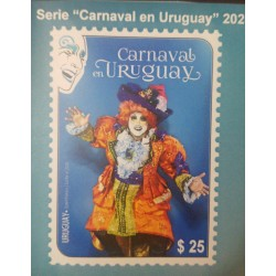 A) 2020, URUGUAY, CARNIVAL, MNH, SALTIMBANQUIS, FDB, MULTICOLORED