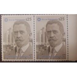 A) 2020, URUGUAY, HERITAGE DAY, MNH, DR MANUEL QUINTELA, BLOCK OF 2