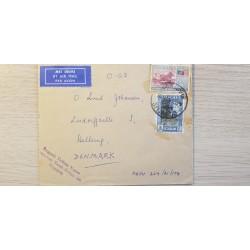A) 1963, MALASIA, MALAYA, TIN BRIDGE, NATIONAL SYMBOLS, FROM SINGAPURE TO DENMARK, MEL ADURA, AERIAL