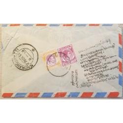 A) 1951, MALASIA, MALAYA, SEND TO MACHANDUPATTI, KING GEORGE VI