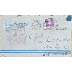 A) 1930, ARGENTINA, NYRBA, FROM BUENOS AIRES TO NEW YORK, AIRPORT, GRAL JOSE DE SAN MARTIN STAMP