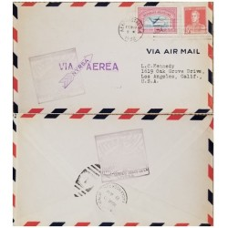 A) 1930, ARGENTINA, NYRBA, FROM BUENOS AIRES TO LOS ANGELES-UNITED STATES, AIRPORT, GRAL JOSE DE SAN MARTIN AND AIRMAIL STAMPS