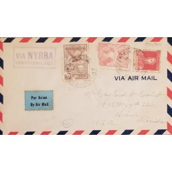 A) 1930, ARGENTINA, FROM BUENOS AIRES TO MIAMI-UNITED STATES, AIRMAIL, NYRBA, GRAL JOSE DE SAN MARTIN STAMP
