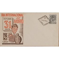 A) 1944, ARGENTINA, INTERNATIONAL DAY OF POSTCARD SAVINGS, FDC, PHILATELIC CIRCLE