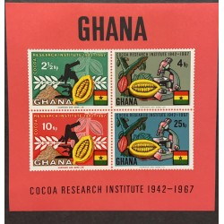A) 1967, GHANA, COCOA, MNH, INVESTIGATION INSTITUTE, MULTICOLORED