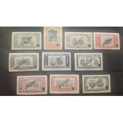 A) 1948, BOLIVIA, FOUNDATION OF PEACE, SPECIMEN, ABN, DOOR OF THE SUN OF TIAHUANACO AND LLAMA