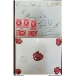 A) 1910, ARGENTINA, FROM ESPERANZA TO GERMANY, CERTIFICATE, SANTA FE DE TUCUMAN, SAAVEDRA STAMP