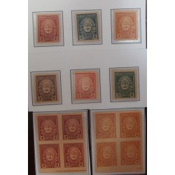 A) 1910, ARGENTINA, COAT OF ARMS, CARDBOARD PROOFS, SOUTH AMERICAN PRINTING COMPANY