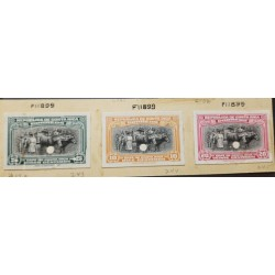 A) 1937, COSTA RICA, COFFEE, CATTLE FAIR, AMERICA BANK NOTE INDEX PROOFS, DIE SUNKEN PROOFS