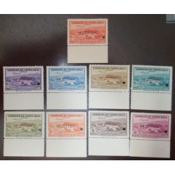 A) 1940, COSTA RICA, SPECIMEN PROOF, AMERICAN BANKNOTE, AIRMAIL, PAN AMERICAN HEALTH DAY, SEALS 9