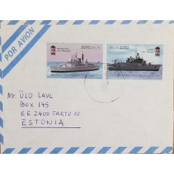 A) 1996, ARGENTINA, FROM BUENOS AIRES TO ESTONIA, RARE DESTINATION, AIRMAIL, NAVAL BASE,