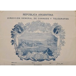 A) 1920 CIRCA, ARGENTINA, POSTAL STATIONARY, GENERAL DIRECTORATE OF POST AND TELEGRAPHS