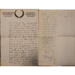 A) 1840, MEXICO, SAN LUIS POTOSI, SEALED PAPER, TWO REALS