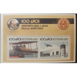 A) 2020, URUGUAY, AIRPLANE, MNH, ANNIVERSARY OF ANGEL S. ADAMI AIRPORT, MULTICOLORED