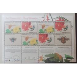 A) 2020, URUGUAY, FLOWERS, POLLINATORS, MNH, MULTICOLORED, PRIMAVERA SERIES