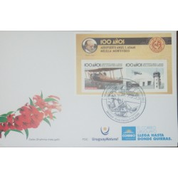 A) 2020, URUGUAY, AIRPLANE, FDC, ANNIVERSARY OF ANGEL S. ADAMI AIRPORT