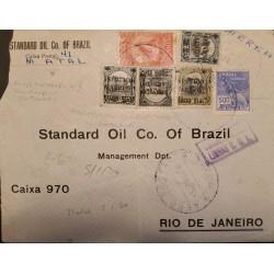 A) 1896, BRAZIL, FROM NATAL TO RIO DE JANEIRO, AIRMAIL, LINHAS, SANTOS DUMONT