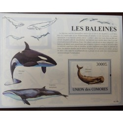 A) 2009, COMORES, WHALE, MINISHEET, CACHALOTE, MNH