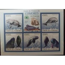 A) 2009, COMORES, SEA MAMMALS, DUGONG, MNH, SHEET