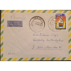 A) 1980, BRAZIL, HYDRAULICS, FROM PORTO UNIAO TO GERMANY, AIRMAIL, ALTERNATIVE ENERGY SOURCE STAMP