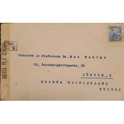 A) 1940, BRAZIL, CENSORSHIP COVER, SHIPPED TO SWITZERLAND, REGISTERED, IRON AND STEEL INDUSTRY STAMP
