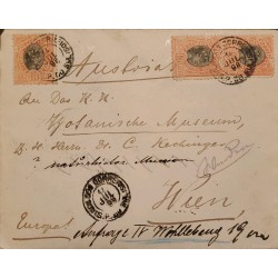 A) 1898, BRAZIL, FROM RIO GRANDE TO AUSTRIA, LIBERTY STAMP