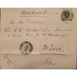 A) 1898, BRAZIL, FROM SAO PEDRO DO SUL TO VIENNA-AUSTRIA, LIBERTY STAMP