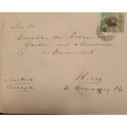 A) 1898, BRAZIL, FROM SAO PAULO TO VIENNA-AUSTRIA, LIBERTY STAMP