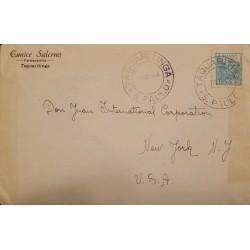 A) 1946, BRAZIL, TAQUARITINGA, FROM SAO PAULO TO NEW YORK-UNITED STATES, WHEAT STAMP