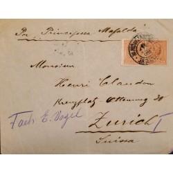 A) 1919, BRAZIL, FROM RIO DE JANEIRO TO ZURICH- SWITZERLAND, LIBERTY STAMP