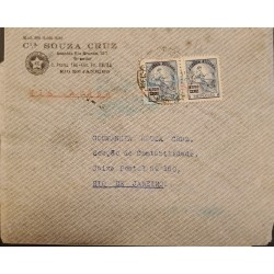 A) 1934, BRAZIL, FROM SAO PAULO TO RIO DE JANEIRO, AIRMAIL, EDUCATION STAMPS