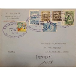 A) 1934, BRAZIL, EXPRESS, FROM RIO GRANDE DO NORTE TO LA MADELEINE-FRANCE