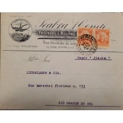 A) 1932, BRAZIL, ANDORINHA, VAPOR ITAUBA, FROM RIO DE JNAEIRO TO RIO GRANDE DO SUL, WANDERKOLK STAMP