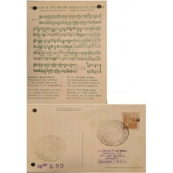 A) 1952, BRAZIL, PETROLEUM, POSTCARD, FROM PERNAMBUCO TO URUGUAY, PIANO SHEET MUSIC