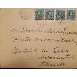 A) 1911, BRAZIL, FROM RIO GRANDE DO SUL TO GERMANY, ALVARES CABRAL STAMPS