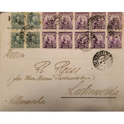 A) 1931, BRAZIL, FROM SAO PAULO TO GERMANY, ALVARES CABRAL AND BENJAMIN CONSTANT STAMPS