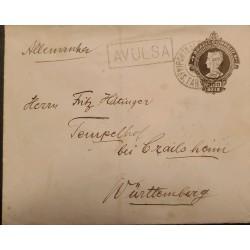A) 1930, BRAZIL, POSTAL STATIONARY, FROM PORTO ALEGRE TO GERMANY, AVULSA, LIBERTY STAMP