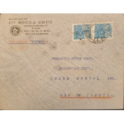 A) 1941, BRAZIL, VIA CONDOR, FROM PORTO ALEGRE TO RIO DE JANEIRO, COMMERCE STAMPS