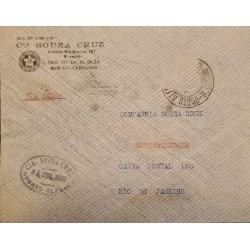 A) 1937, BRAZIL, PANAIR, FROM PORTO ALEGRE TO RIO JANEIRO, AIRMAIL