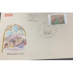 A) 1976, AUSTRIA-ST LAMBRECHT, FDC, CHRISTMAS