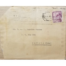 A) 1894, SPAIN, COVER SHIPPED TO SPANISH ANTILLES, CANCELLATION, GRAL FRANCO STAMP