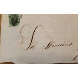 A) 1856, SPAIN, OFICIAL MAIL, COVER SHIPPED TO CARIBBEAN, 4Onzas, SEAL IN BLACK ON GREEN