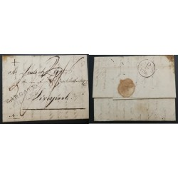 A) 1826, BRAZIL, BRITISH SHIP LETTERS, STAMP LESS
