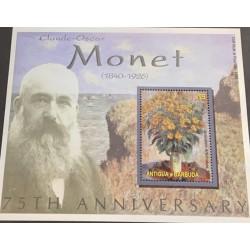 M) 2001 ANTIGUA & BARBUDA, MONET 75TH ANIVERSARY (1840 – 1926), JERUSALEN ARTICHOKES 1880, CLIFF WALK AT POURVILLE 1882