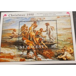 M) 1990 ST. VICENT, CHRISTMAS 1990, PAINTINGS OF RUBENS (1577 – 1640), THE MIRACULOUS DRAUGHT OF FISHES